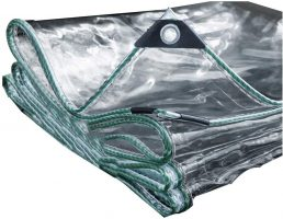 Lona impermeable transparente