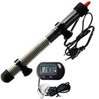 Calentador sumergible Calefacción de varilla para Acuario Glass tanque de pescados Ajuste de temperatura con termómetro