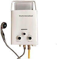 Calentador de agua, caldera de gas, portátil para ducha de camping, 6 litros