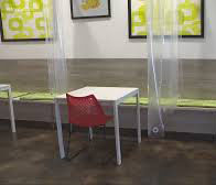 Tela impermeable transparente divisores