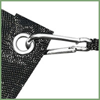 Con mosquetón, es conveniente para su uso y se puede colgar en varios lugares