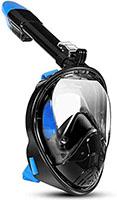 Máscara de snorkel LALAYA Visión de 180 grados, máscara de buceo de cara completa Diseño de respiración libre Antivaho y antifugas