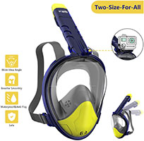 WOTEK Mascara Buceo Mascara Snorkel 180° Panorámica