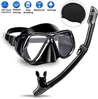 Charlemain Set Máscara y Snorkel, 180° Vista Panorámica HD