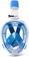K2O MS1012 - Máscara de Snorkel L/XL Con Tubo Incorporado Azul
