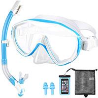 Nobebird Gafas de Buceo, Máscara de Buceo Snorkel Set