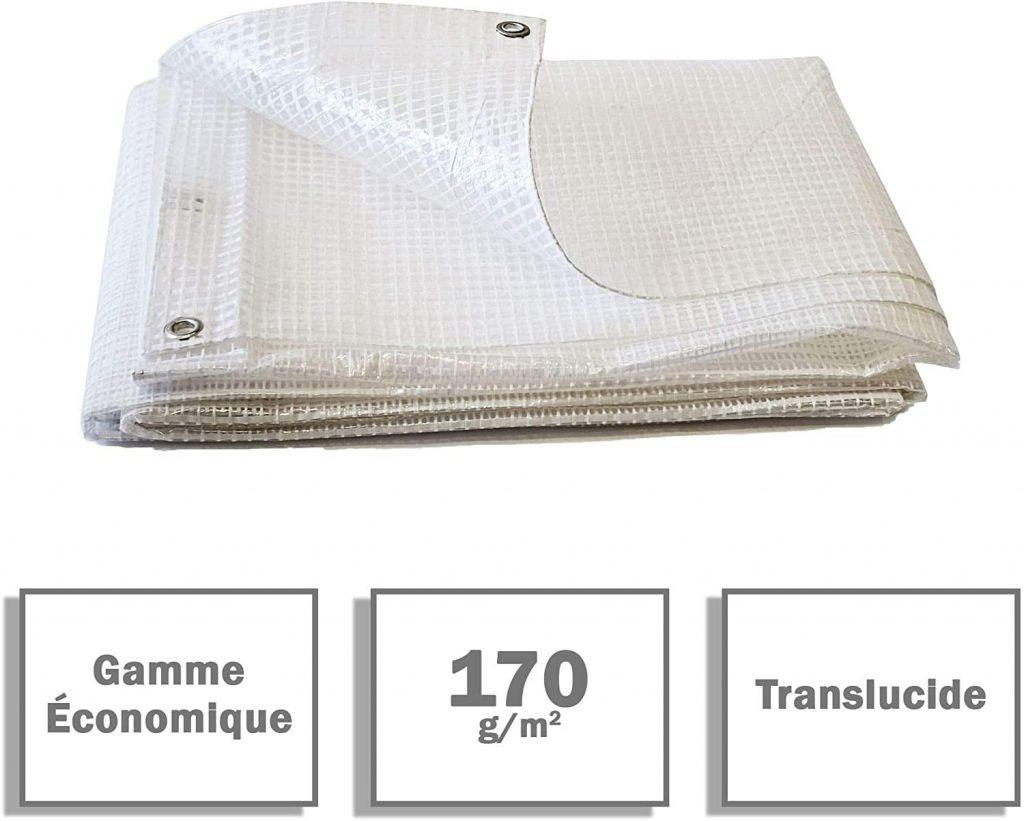 Lona para leña Bâches Direct transparente e impermeable