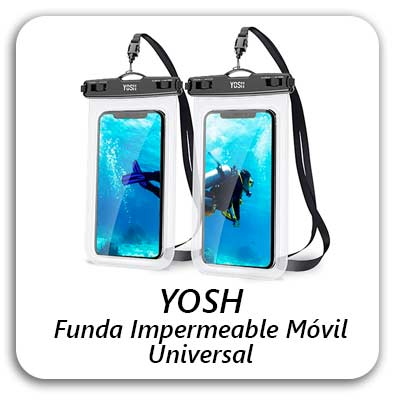 YOSH Funda Impermeable Móvil Universal