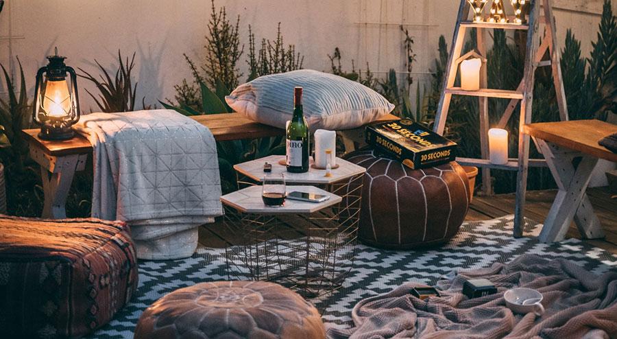 Tela impermeable para cojines patio